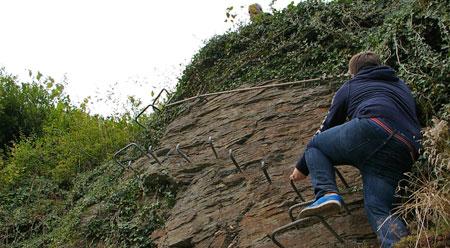 Klettersteig Mosel : Klettersteig mosel collis steilpfad zell
